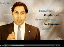 United Nations Secretary-General's Envoy on Youth, Ahmad Alhendawi, on youth in the post-2015 development agenda and the ECOSOC Forum on Youth