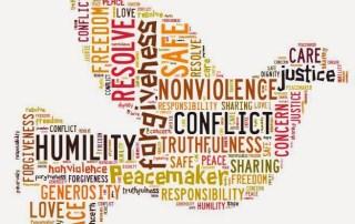 Capture dove shaped peace wordle