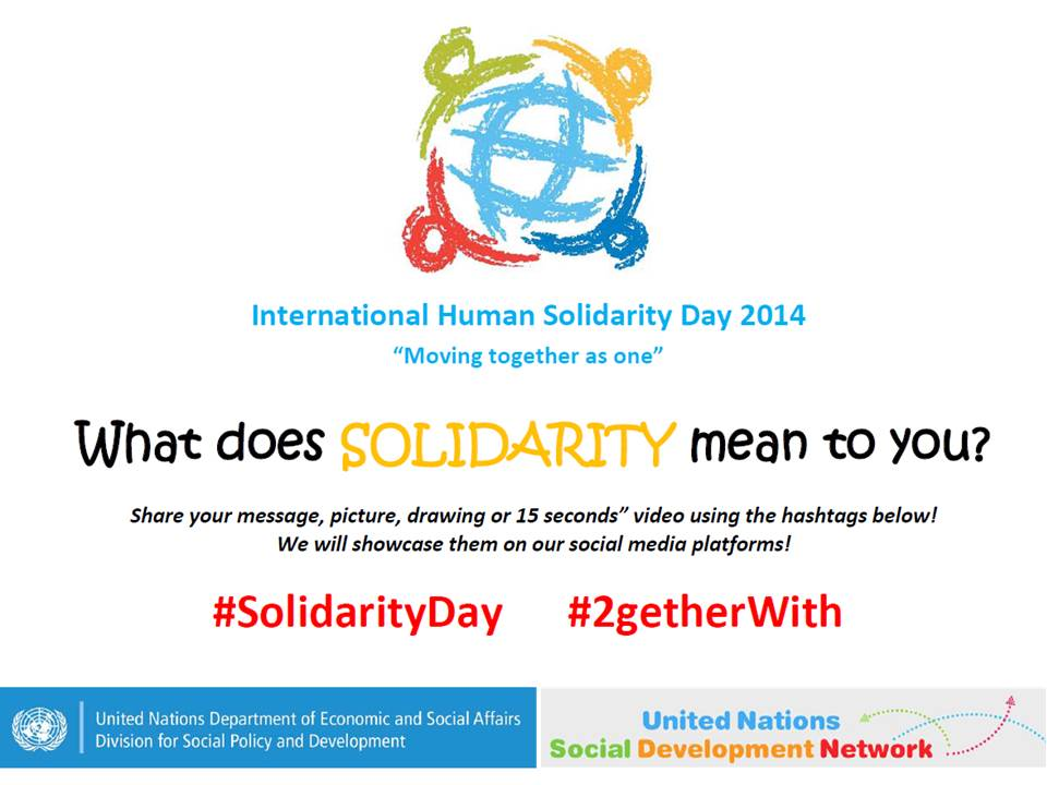 International Solidarity Day - Who are you moving ...