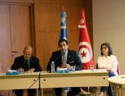 Ahmad Alhendawi meets with the heads of UN agencies in Tunisia.