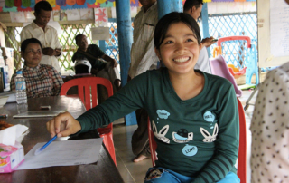After attending the ourtreach session, Kem Lean, 16, decided to receive antenatal care and give birth in a health facility. © UNFPA Cambodia/Monika Mey