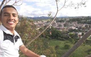 Jesús David Zúñiga, 21, from the township of Timbío, in the south-west part of Colombia.