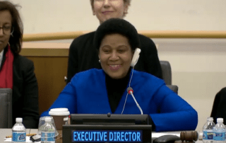 UN Under-Secretary-General and Executive Director of UN Women, Phumzile Mlambo-Ngcuka at the UN Women Executive Board First Regular Session for the year 2017