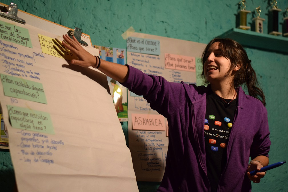 Blanca de la Cruz, fully funded UN Youth Volunteer from Spain working to empower isolated communities in Guatemala. (UNV, 2016)