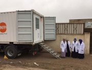 A mobile delivery unit UNFPA deployed inside West Mosul, Iraq, to meet lifesaving needs of primary healthcare for women and girls. Photo: UNFPA