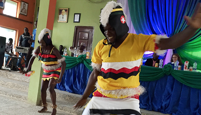 LIFE volunteers use dance as a tool to illustrate the possibilities of peaceful coexistence among Nigeria's tribal and religious groups.