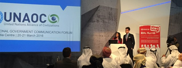 United Nations Alliance of Civilizations (UNAOC) participates in International Government Communication Forum in Sharjah, UAE
