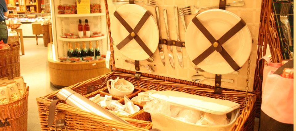 Fortnum & Mason Londres interior cestas picnic