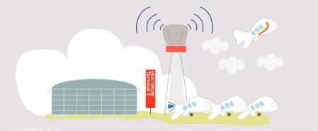 Dibujo torre de control de Heathrow