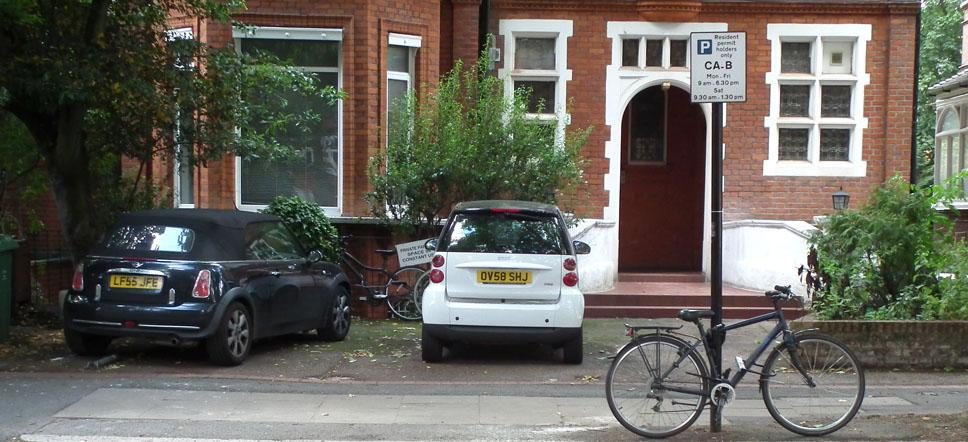 Belsize Park Londres coches puerta casa