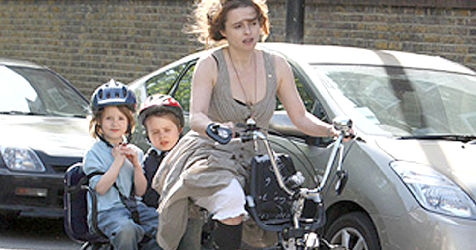 Belsize Park Helena Banham Carter y sus hijos