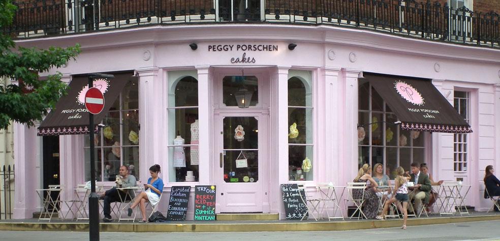 Peggy Porschen Londres Fachada Rosa