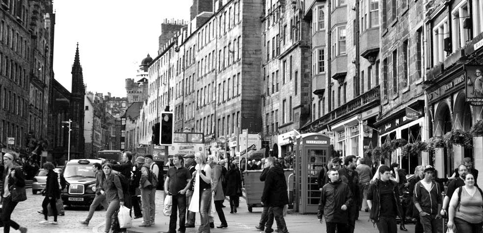 Festival de teatro de Edimburgo Calles