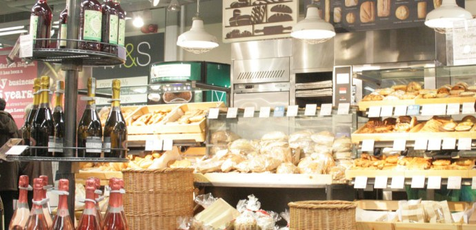 food hall de marks & Spencer Bakeri