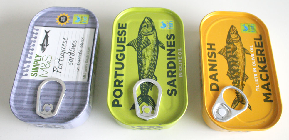 food hall de marks & Spencer Sardinas