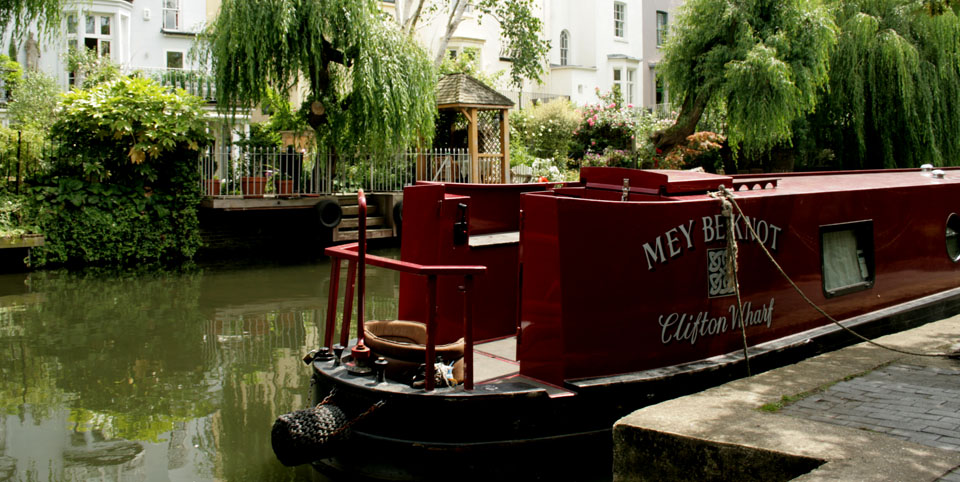 Canal de Camden Town narrowboat