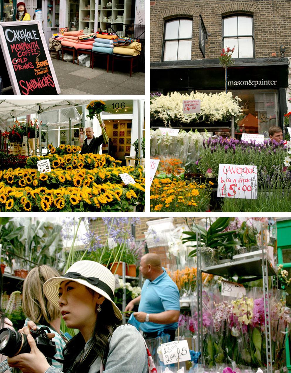 El mercado de las flores de Londres Flores
