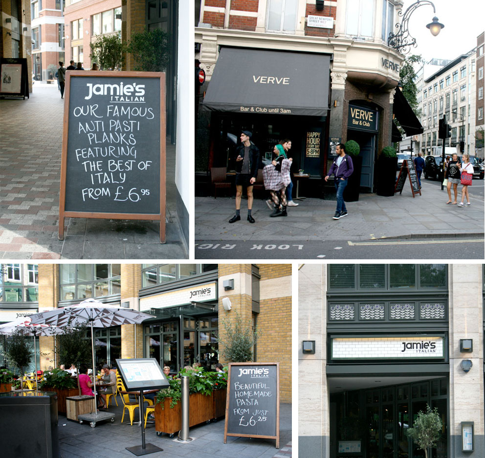 El cocinero Jamie Oliver Jaime's Italian Covent Garden