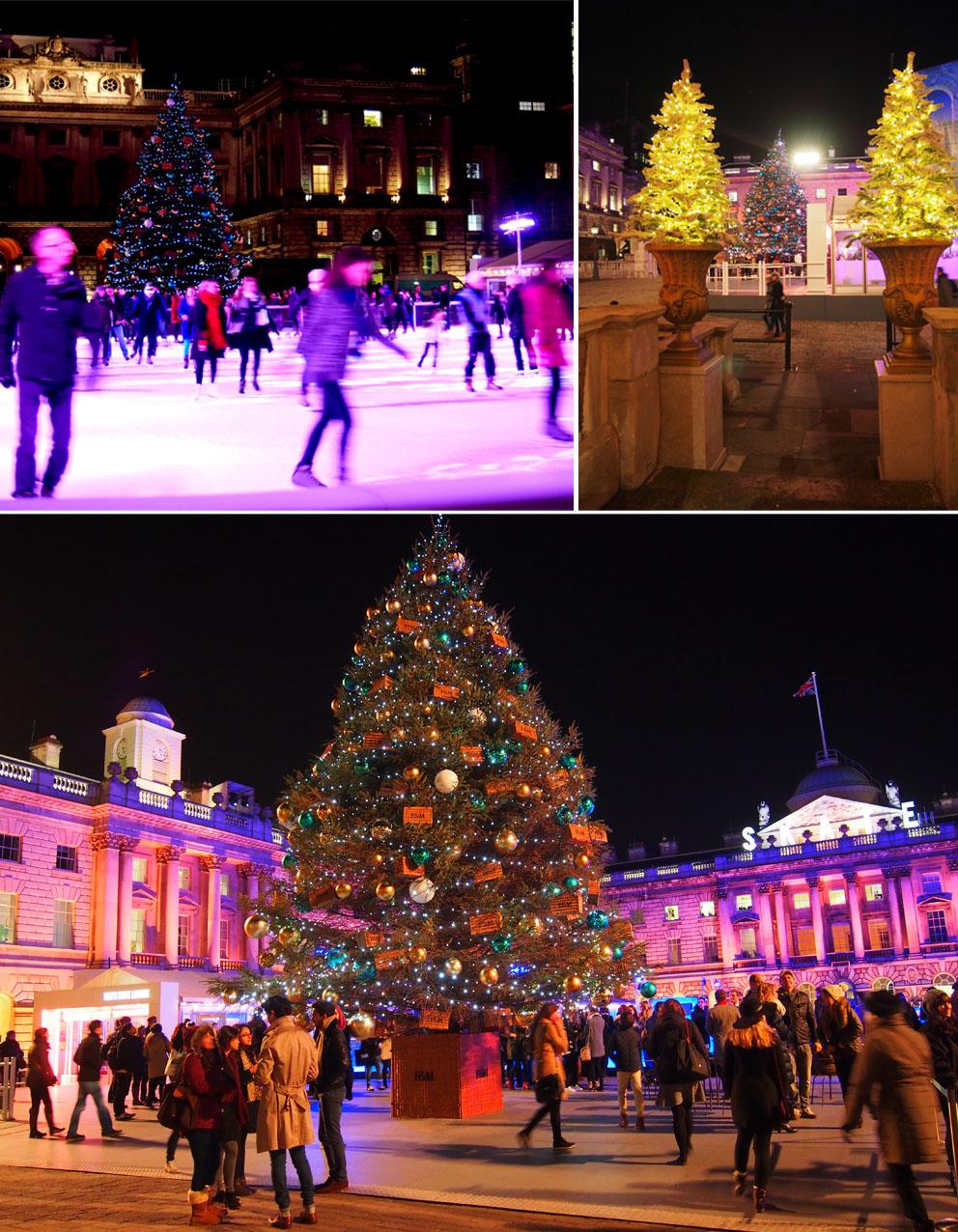 Patinar sobre hielo en Londres en Navidad SOmerset