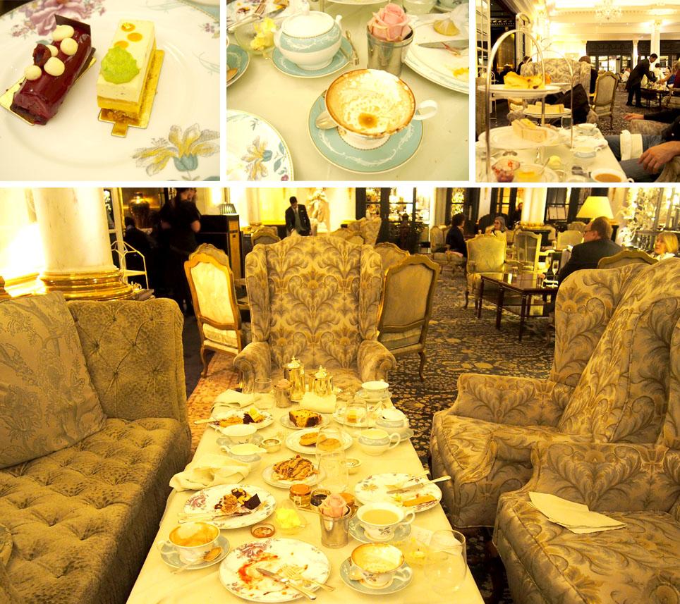 Donde tomar el afternoon tea en Londres mesa pasteles