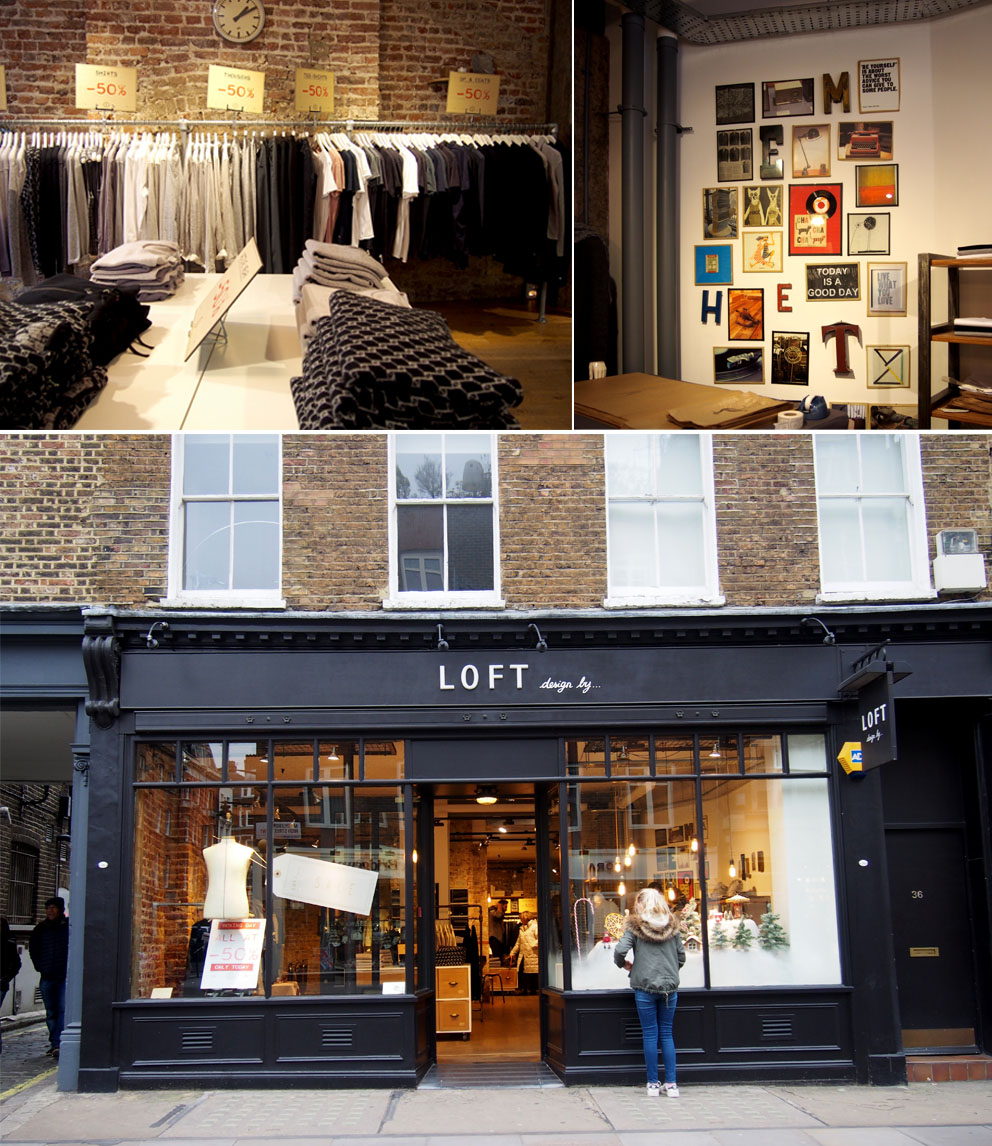 Tiendas en Marylebone Londres Loft