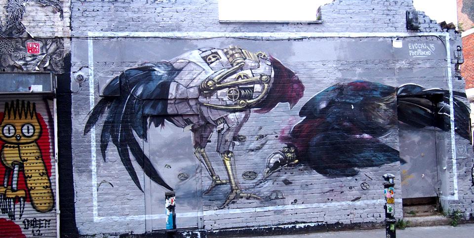 First Thursdays de Londres grafiti
