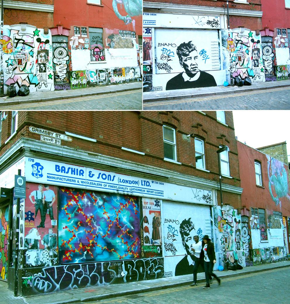 Dónde comer en Brick Lane grafiti