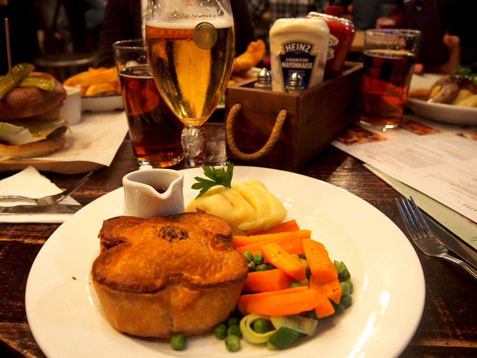 donde comer en Londres pub