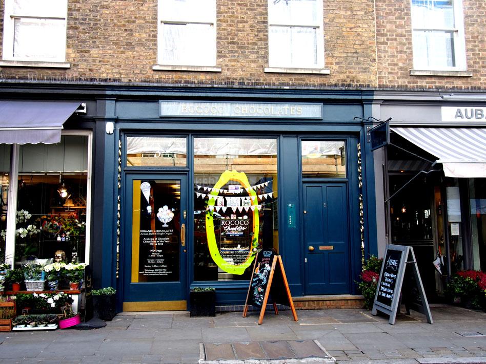 Tiendas delicatessen de Marylebone rococo chocolate