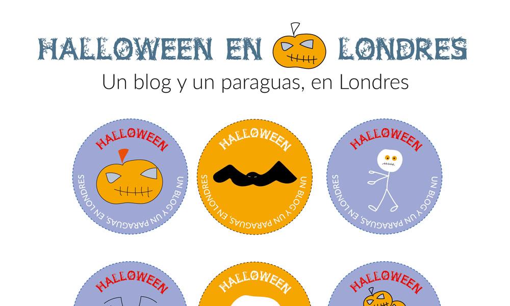 Halloween en Londres dibujos descargables