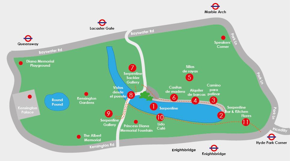 qué ver en Hyde Park Mapa
