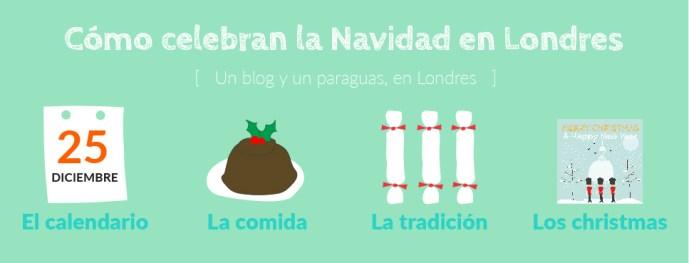 Cómo se celebra la Navidad en Londres dibujo