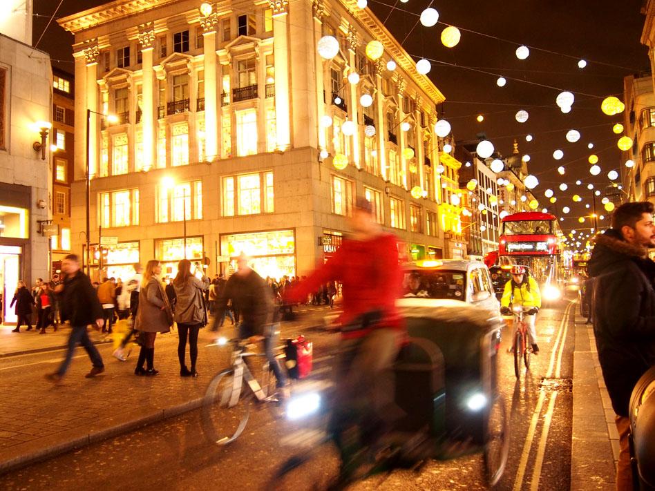 Ruta iluminación Navidad Londres Oxford Street