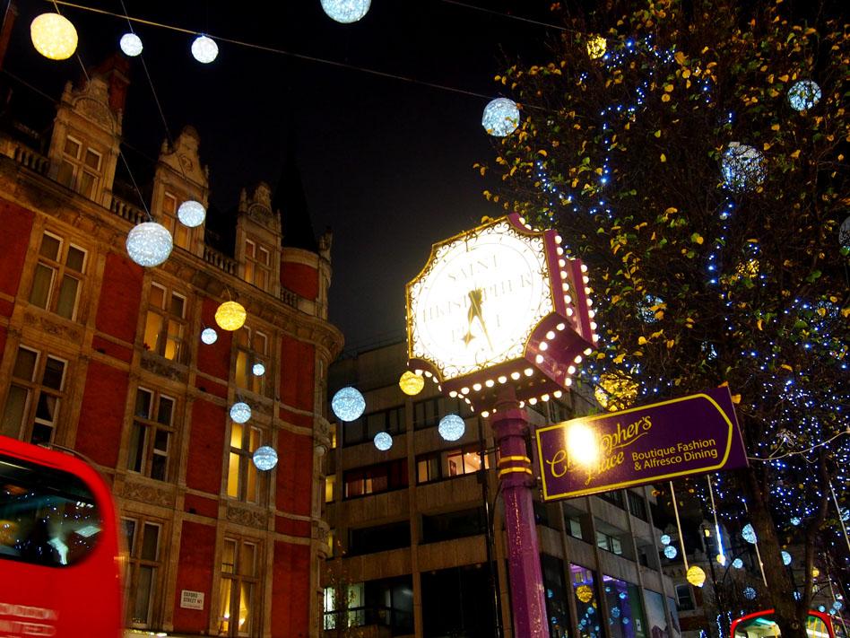 Ruta iluminación Navidad Londres Christopher's Place