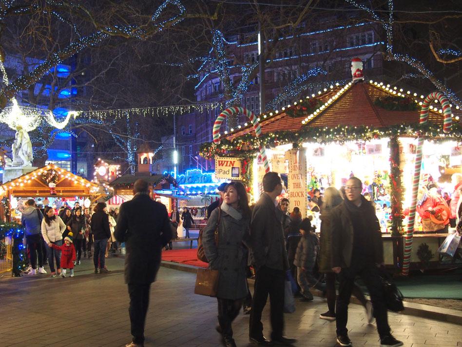Ruta iluminación Navidad Londres christmas market