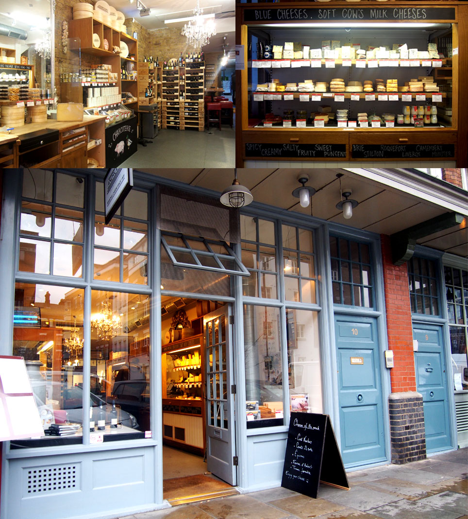 Mejores tiendas de quesos de Londres Androuet