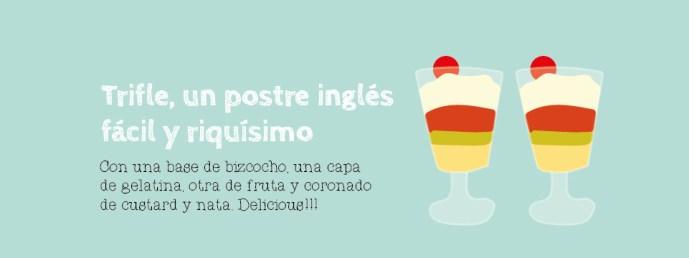 Trifle postre inglés