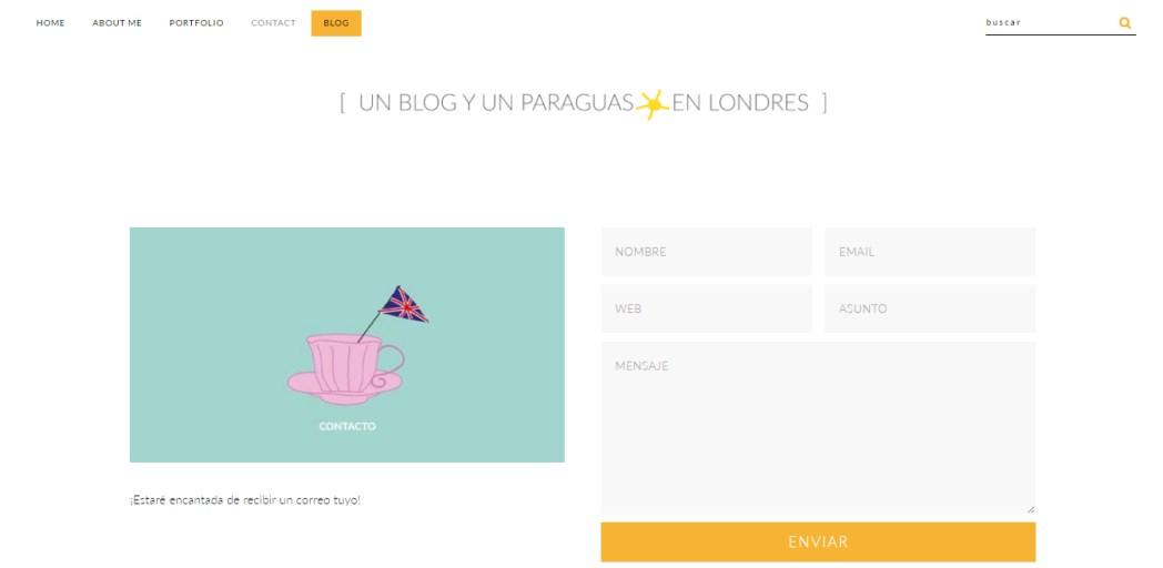 Nuevo diseño del blog Contacto