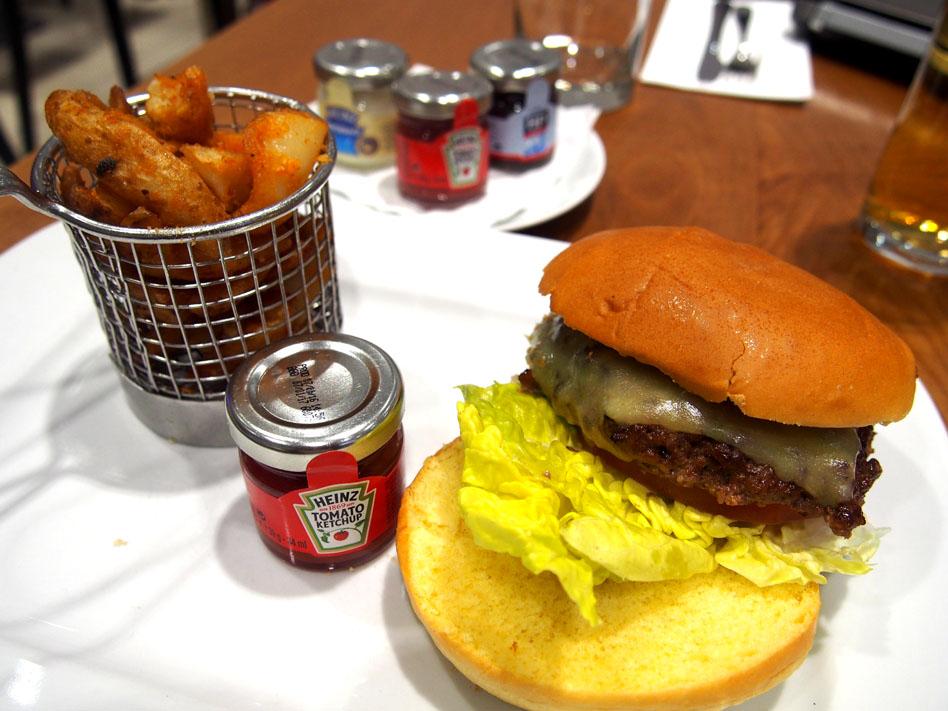 Aeropuerto de la City de Londres hamburguesa