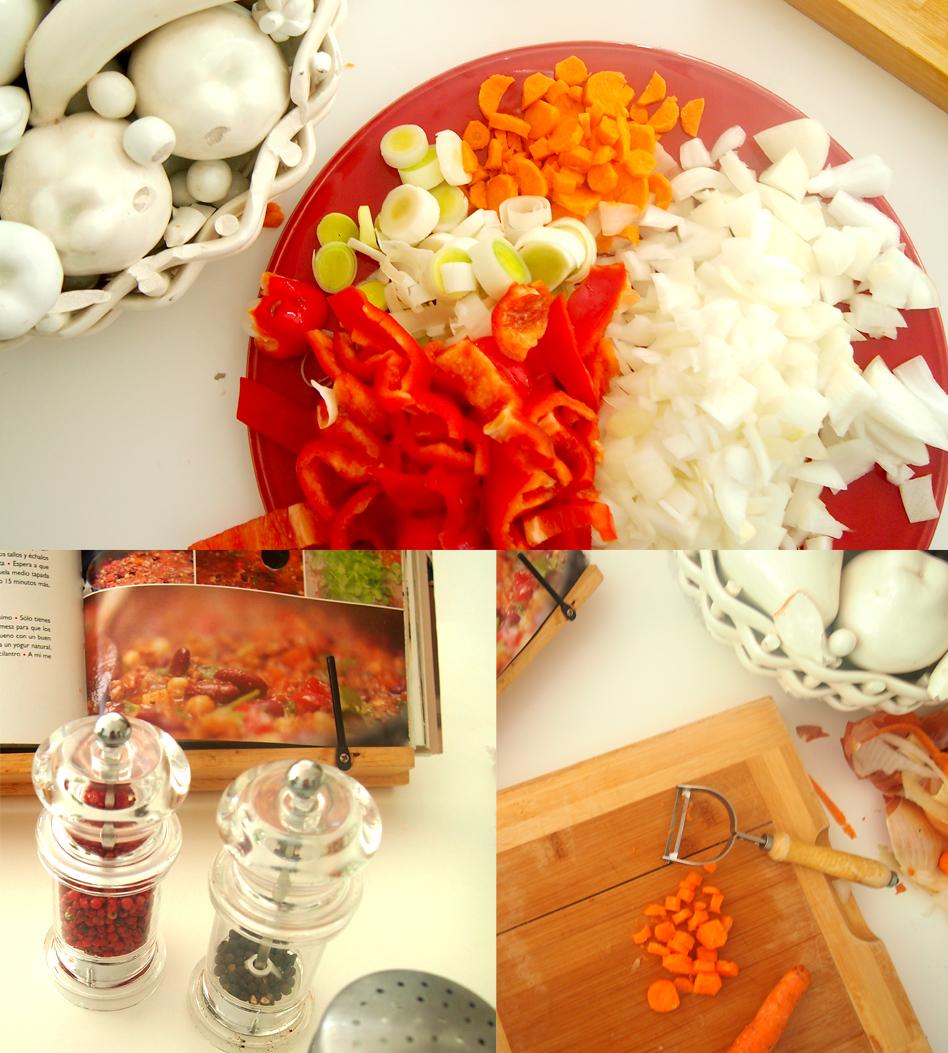 Receta de chili con carne verduras