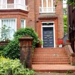 Puertas de Belsize Park casa de ladrillo