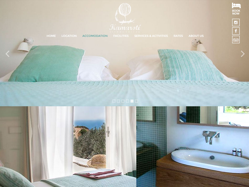 Hotel Kamarotí en Sifnos haitaciones