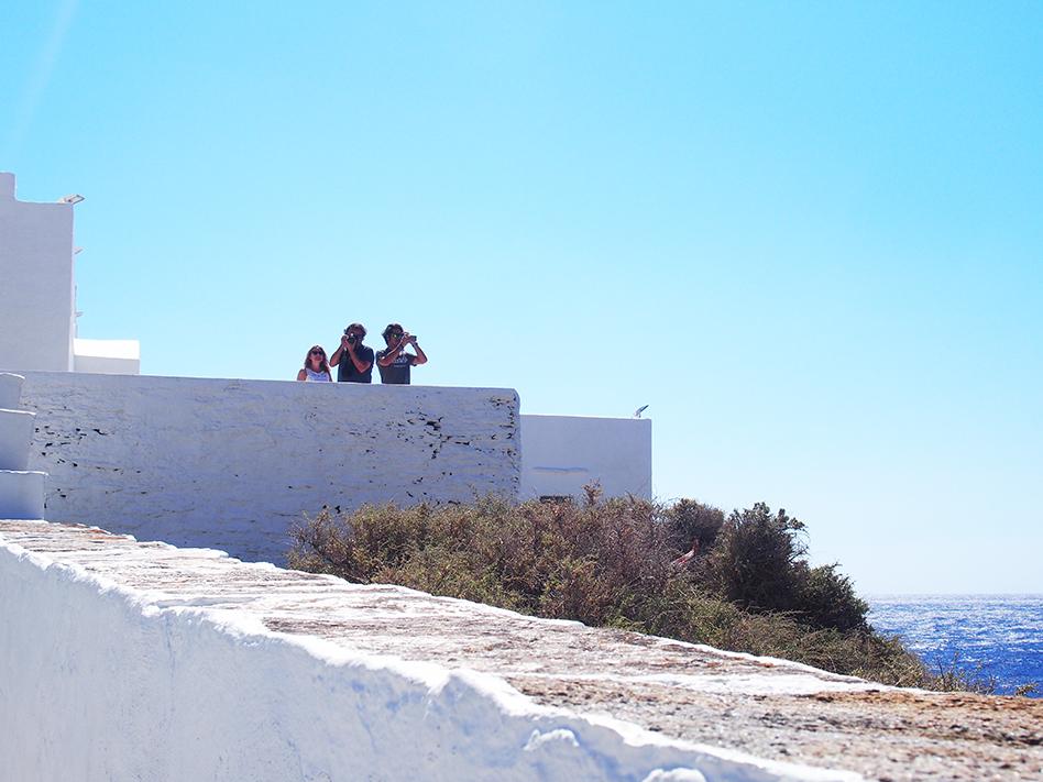 Sifnos en Grecia Monasterio Hrysopigis lateral