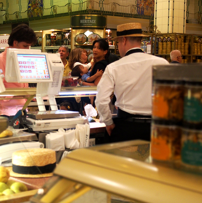 food hall de harrods mostrador