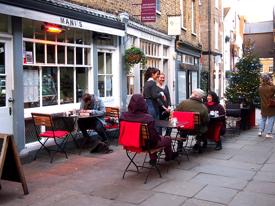 Hampstead en Navidad Perrins-ct
