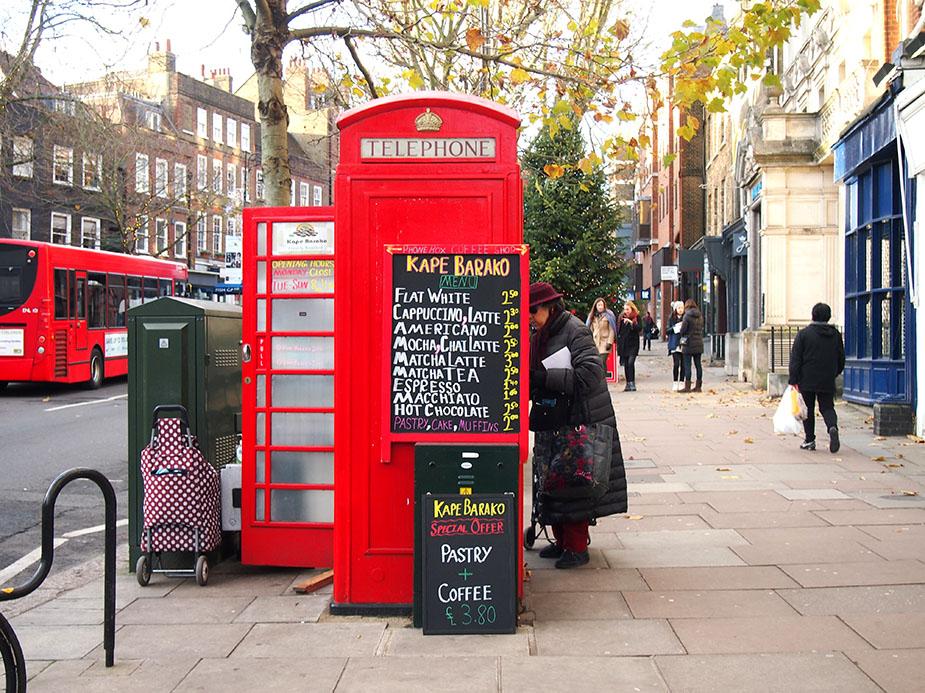 Hampstead Navidad Cabina roja