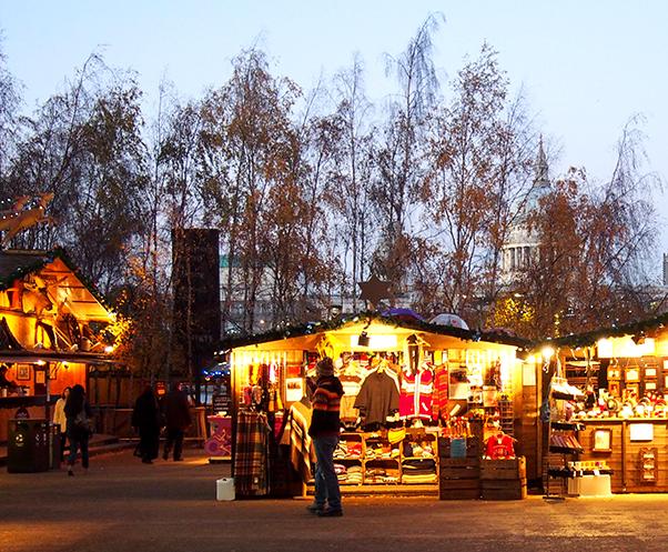 Guía de Londres en Navidad christmas market