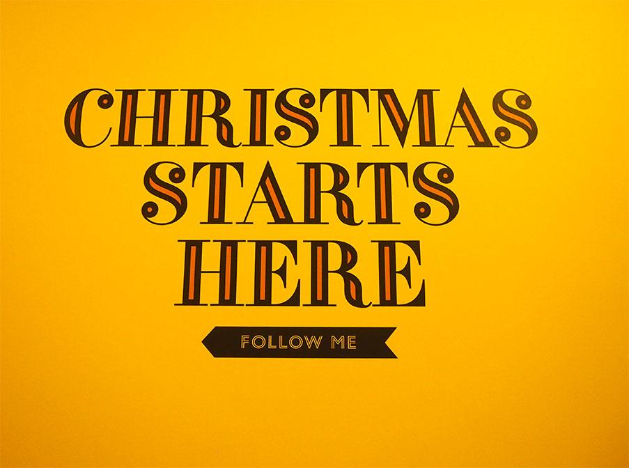 Somerset House en navidad textos pared