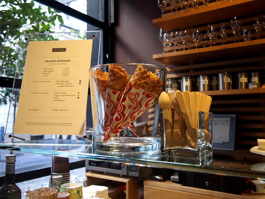 Barrio de las Salesas de Madrid Cacao Sampaka helados