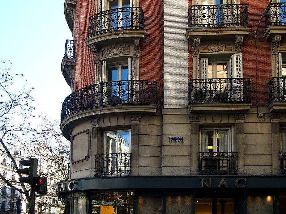 Barrio de las salesas de madrid nac fachada